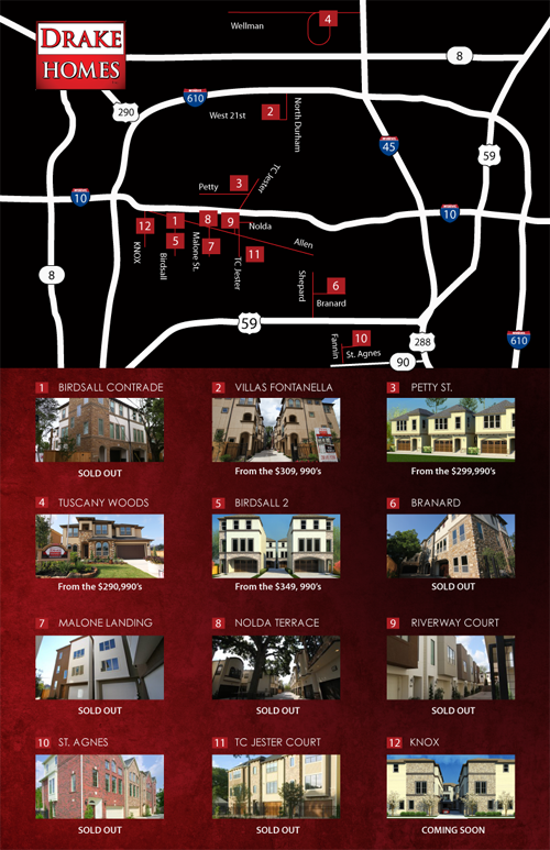 Drake Homes Inc Flyer - Sept 2012 Back/Map