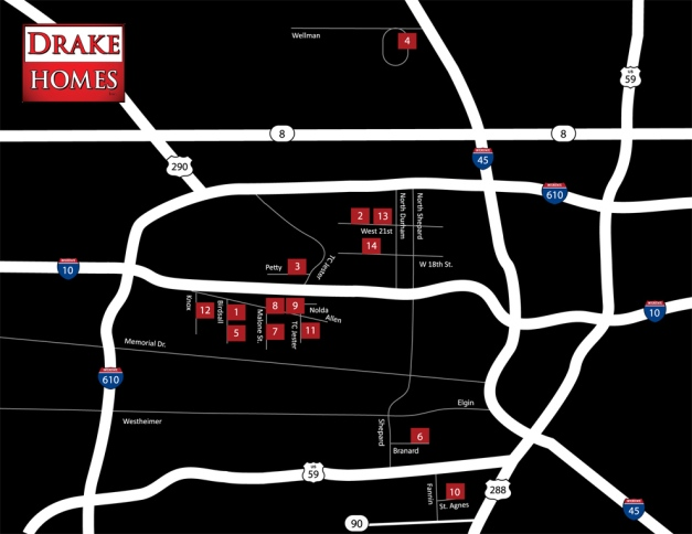 Drake Homes Inc map