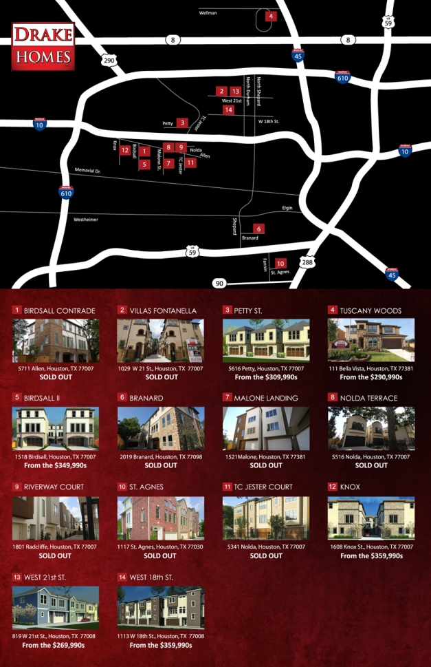 Drake Homes Inc Community Map