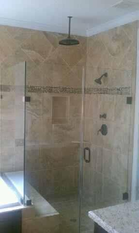 upgraded waterfall shower tuscanywood