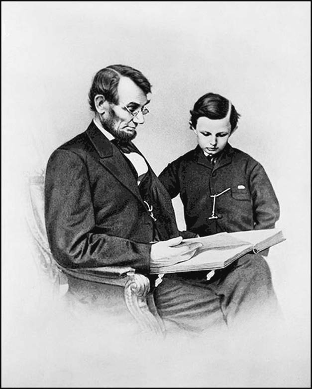 Lincoln and son Tad