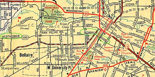 1961 Houston Map