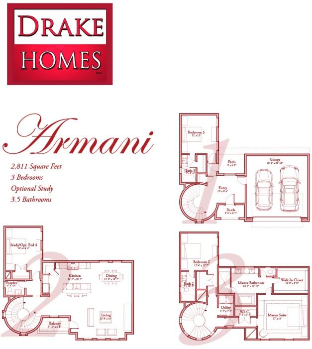 Armani - The Villas on Graustark by Drake Homes Inc