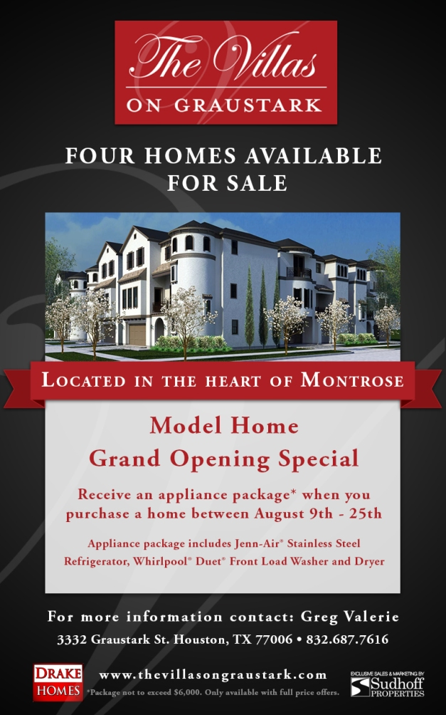 Model Home Grand Opening Special - Graustark