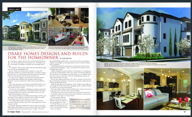 Drake Homes Inc - Magazine Article