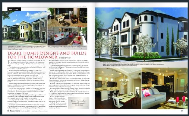Drake Homes Inc - Magazine Article