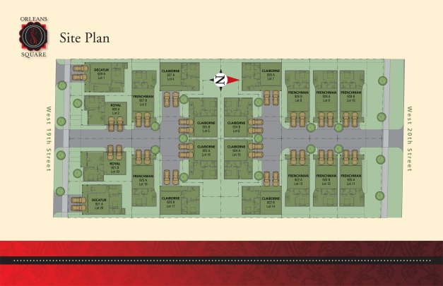 Orleans Square - Site Map