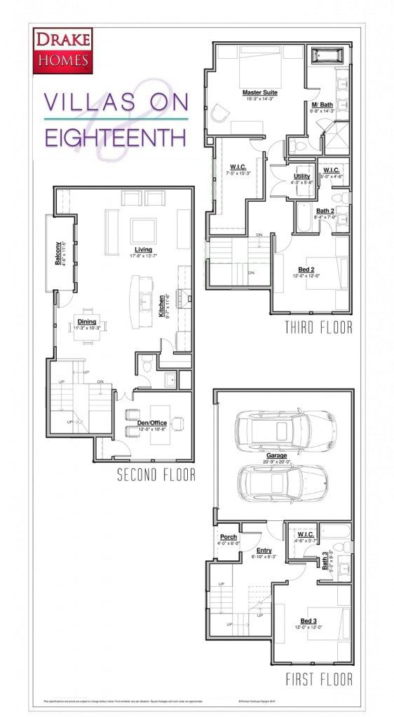 Villas on Eighteenth Street Floorplan