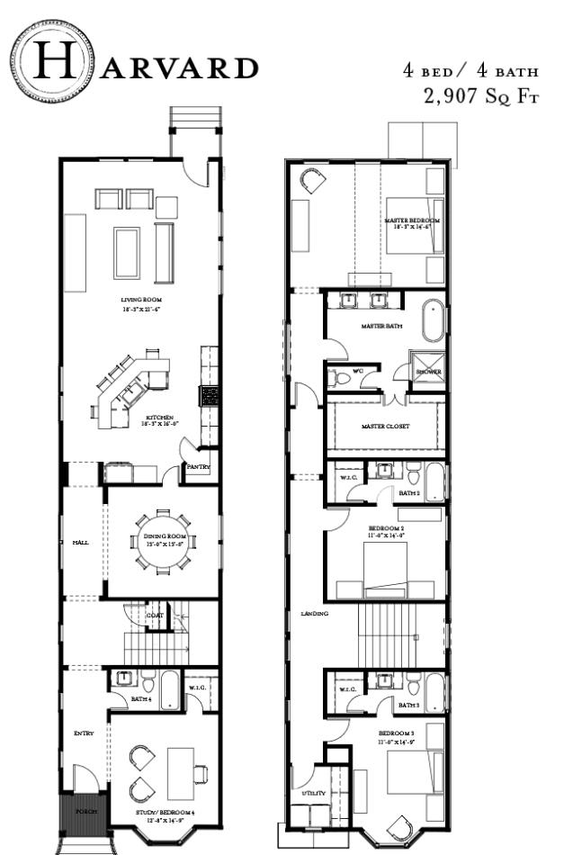 Harvard floor plan