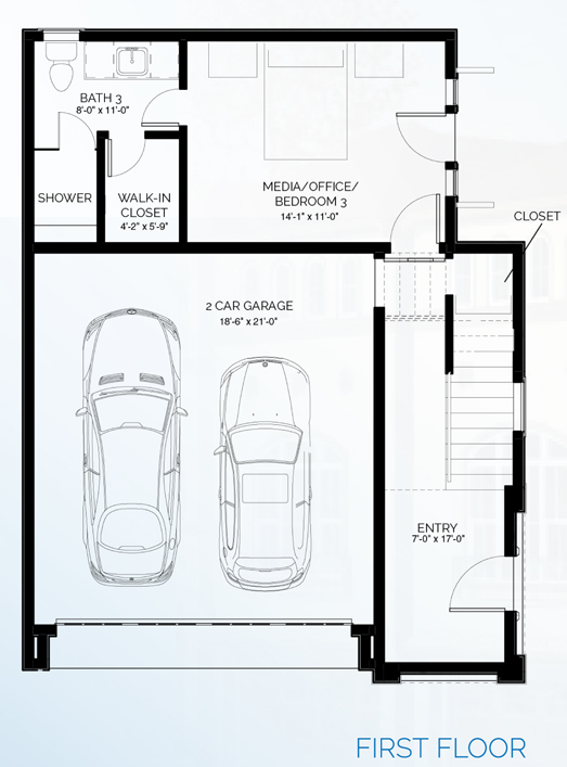 Stillman II - floorplan A first floor