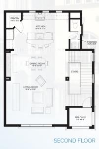 Stillman II - floorplan B second floor
