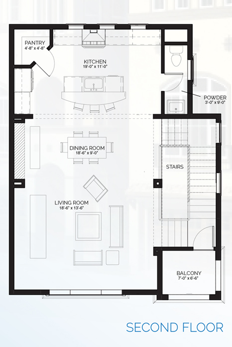 Stillman II - floorplan B second floor