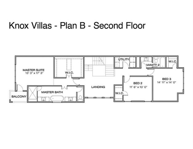 second-floor Knox Villas
