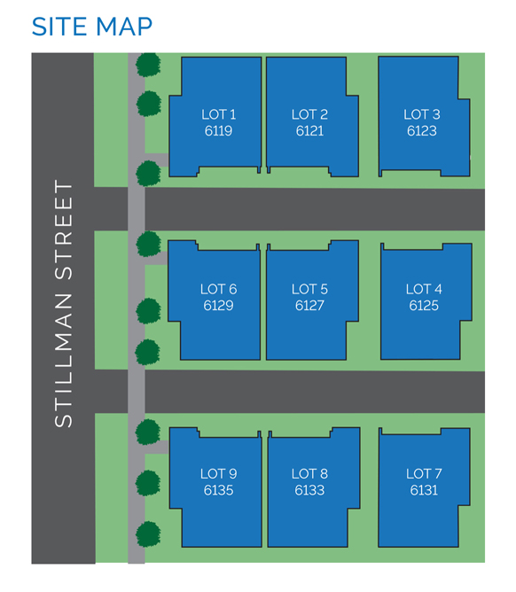Site map - Stillman II by Drake Homes Inc