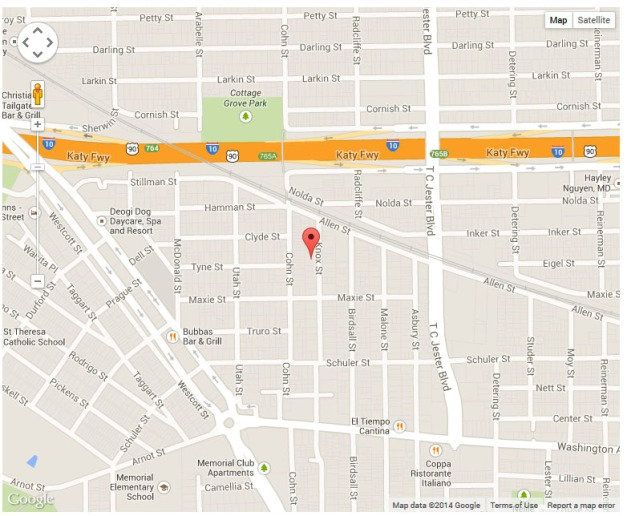 Street Map - 1605 Knox St Houston, TX
