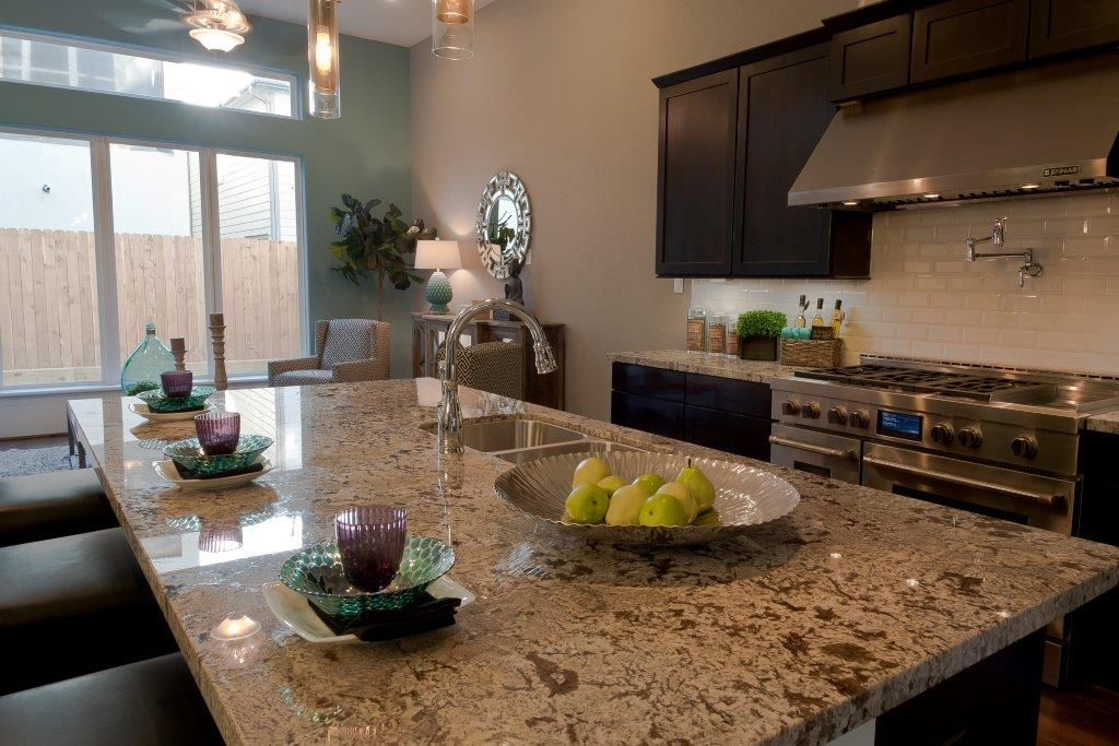 Knox villas model home kitchen drake homes inc blog for Model home kitchens