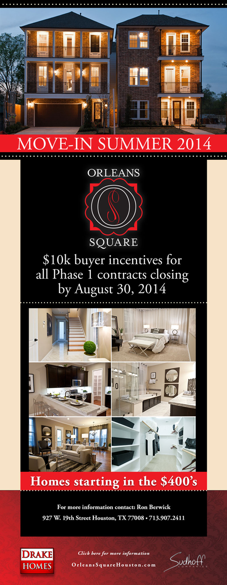 Orleans Square Buyer's Incentive