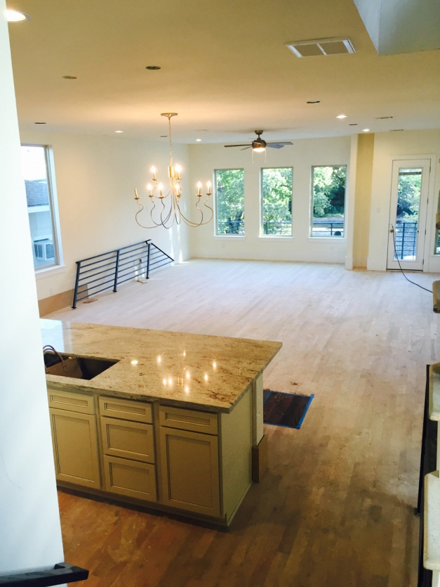 Avondale Park Manor - consstruction Kitchen and Living area