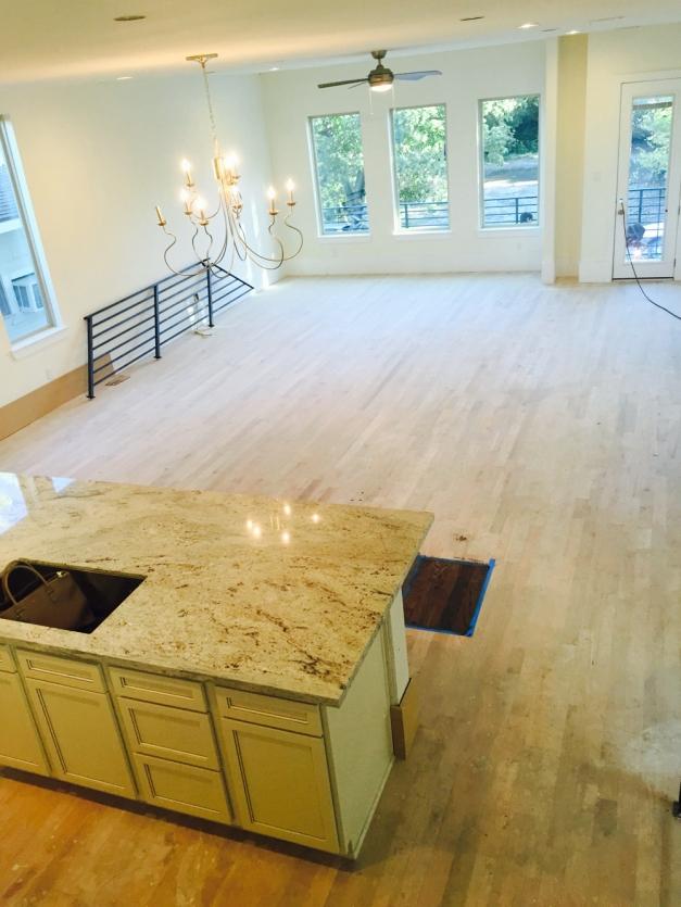 Avondale Park Manor - consstruction Kitchen and Living area