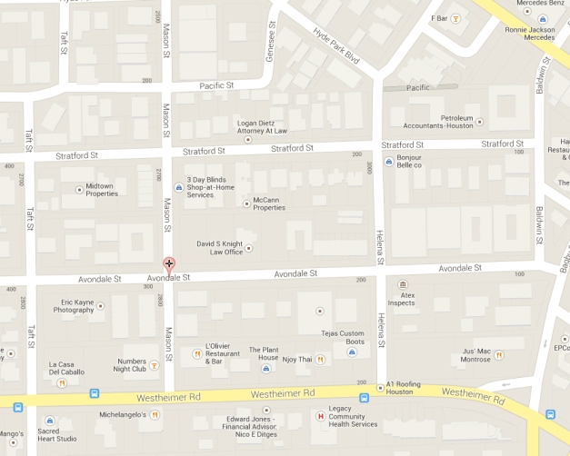 Avondale Park Street Map