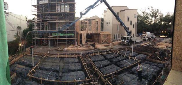 Pouring concrete - Avondale Park Manor