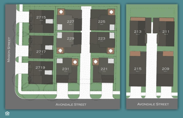 Avondale Park - site map for homes