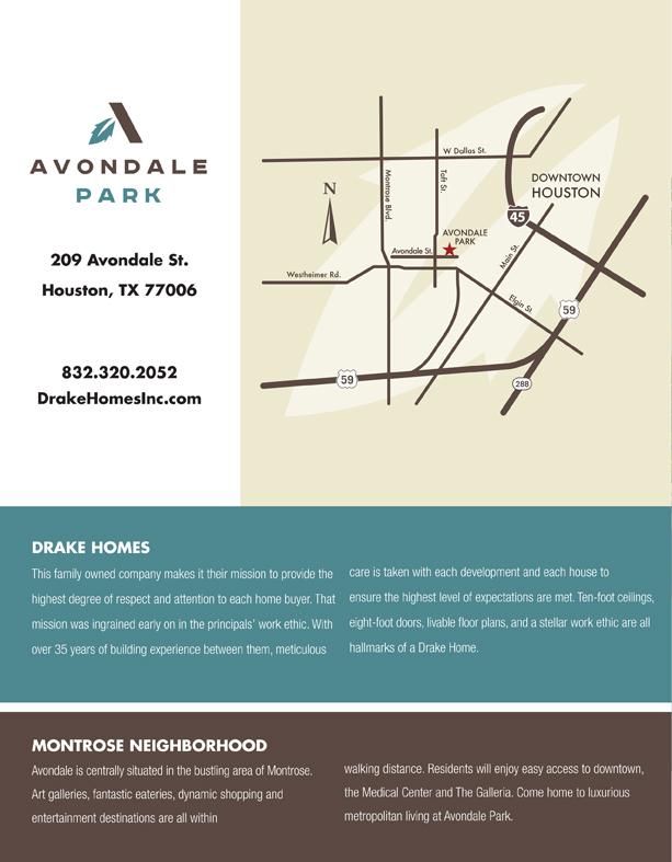 Avondale Park Brochure back page