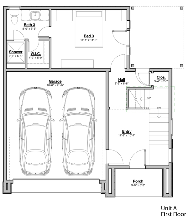 Avondale Park Manor - Unit A Floorplan - First Floor