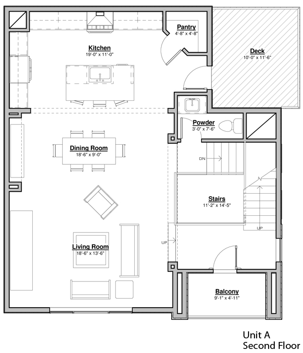 Avondale Park Manor - Unit A Floorplan - Second Floor