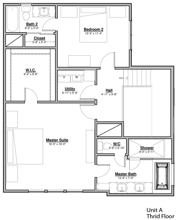 Avondale Park Manor - Unit A Floorplan - Third Floor