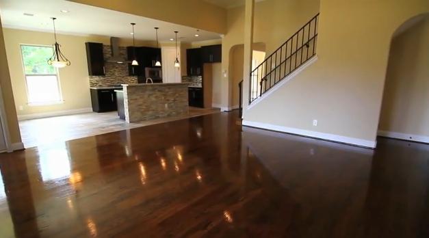Wood floors by Drake Homes Inc