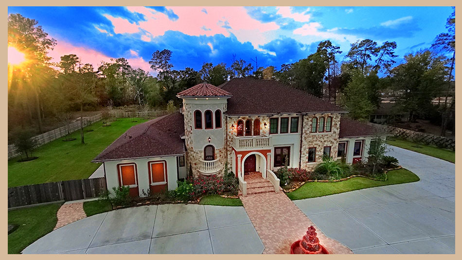 Aerial - custom home