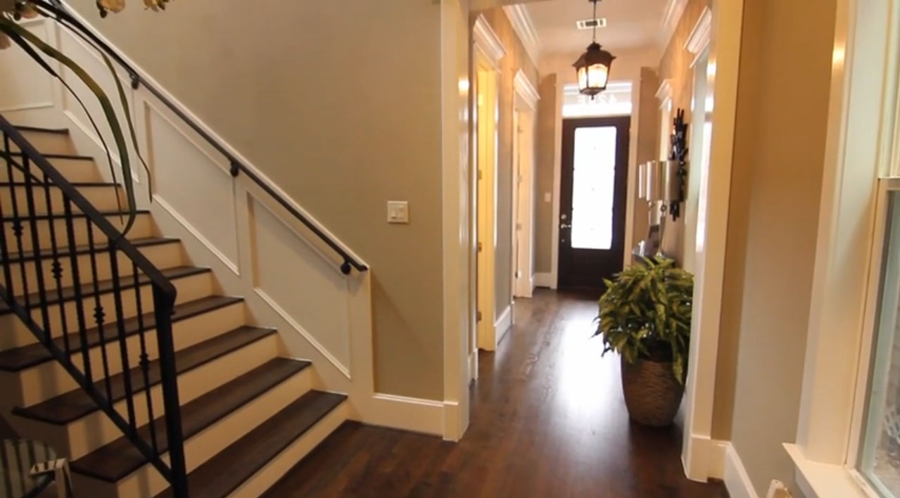 Front door entry - entry hall - stairs to second floor