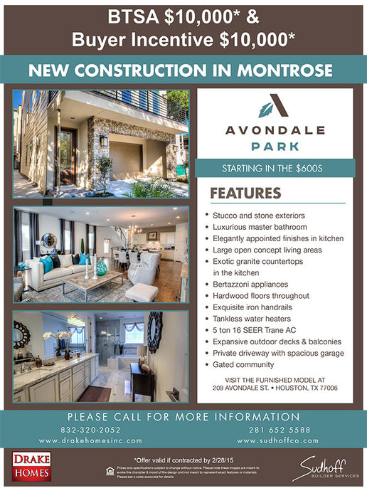 Avondale incentive flyer