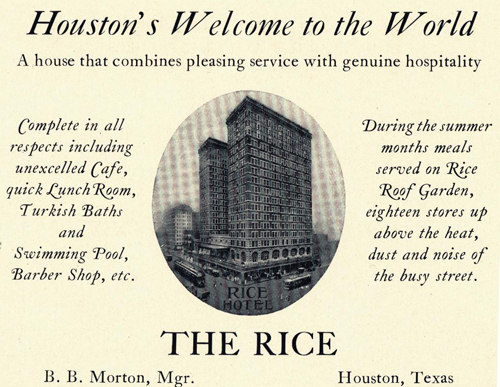Rice Hotel, Houston, TX