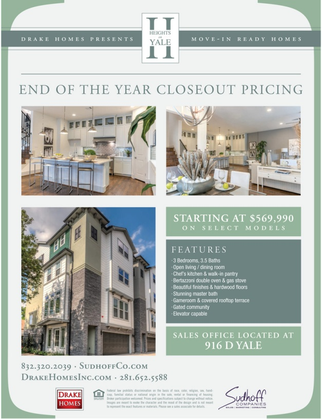Heights on Yale - End of Year Closeouts