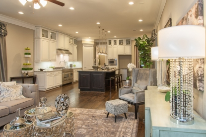 living area - kitchen