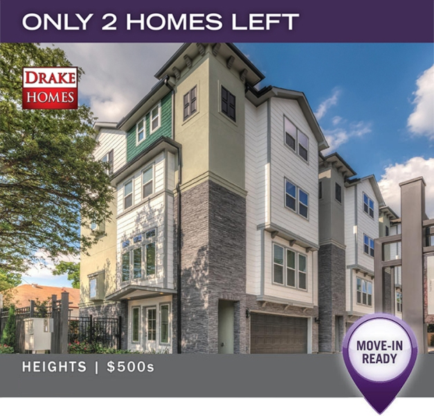 Only 2 Homes Left - Heights on Yale