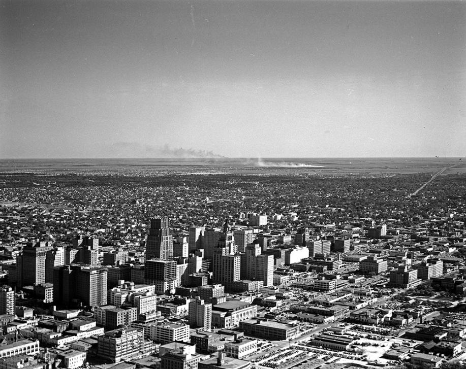 aerial view of Houston, TX - cir. 1951