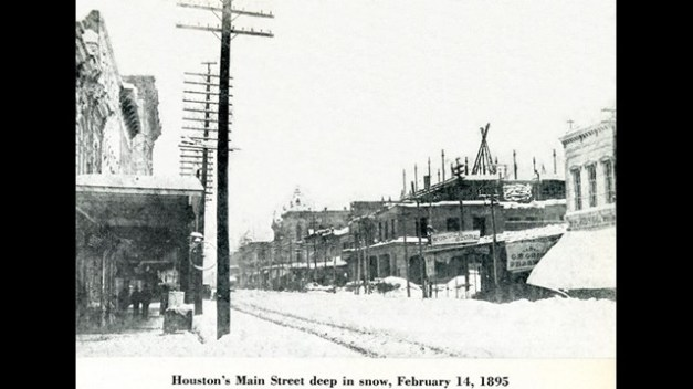 Houston, TX snow - 1895