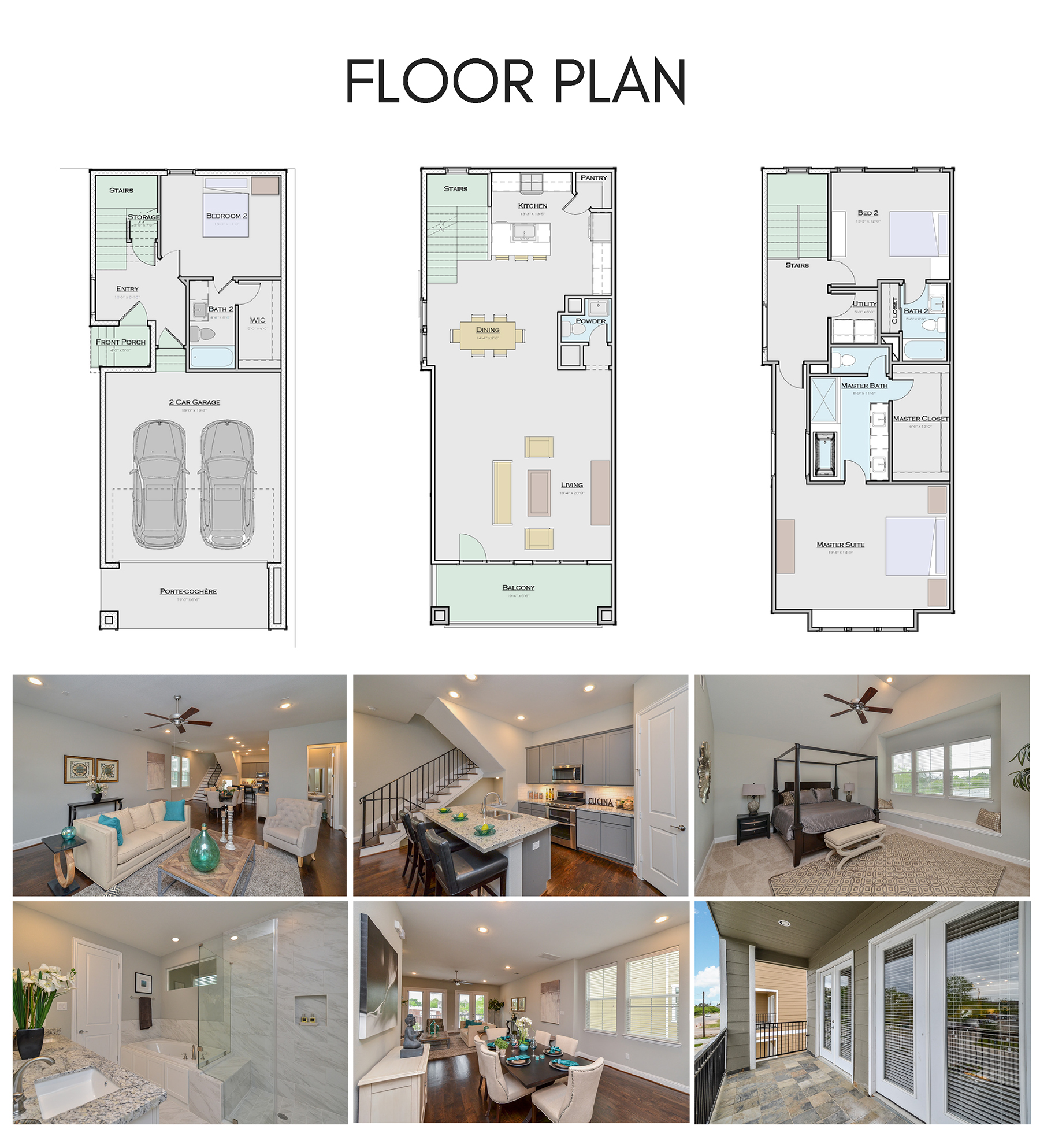 2,279 sq ft, 3 story layout.