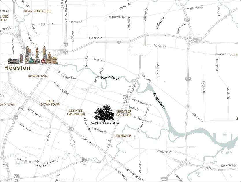 Oaks Of Lawndale - Map