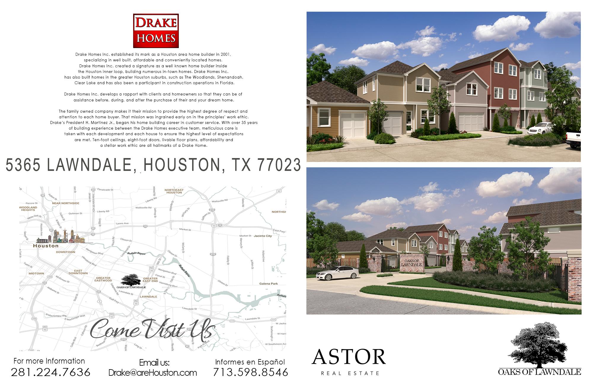 Oaks Of Lawndale by Drake Homes Inc., Houston, TX.