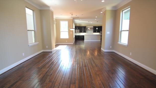 Hand laid wood floor