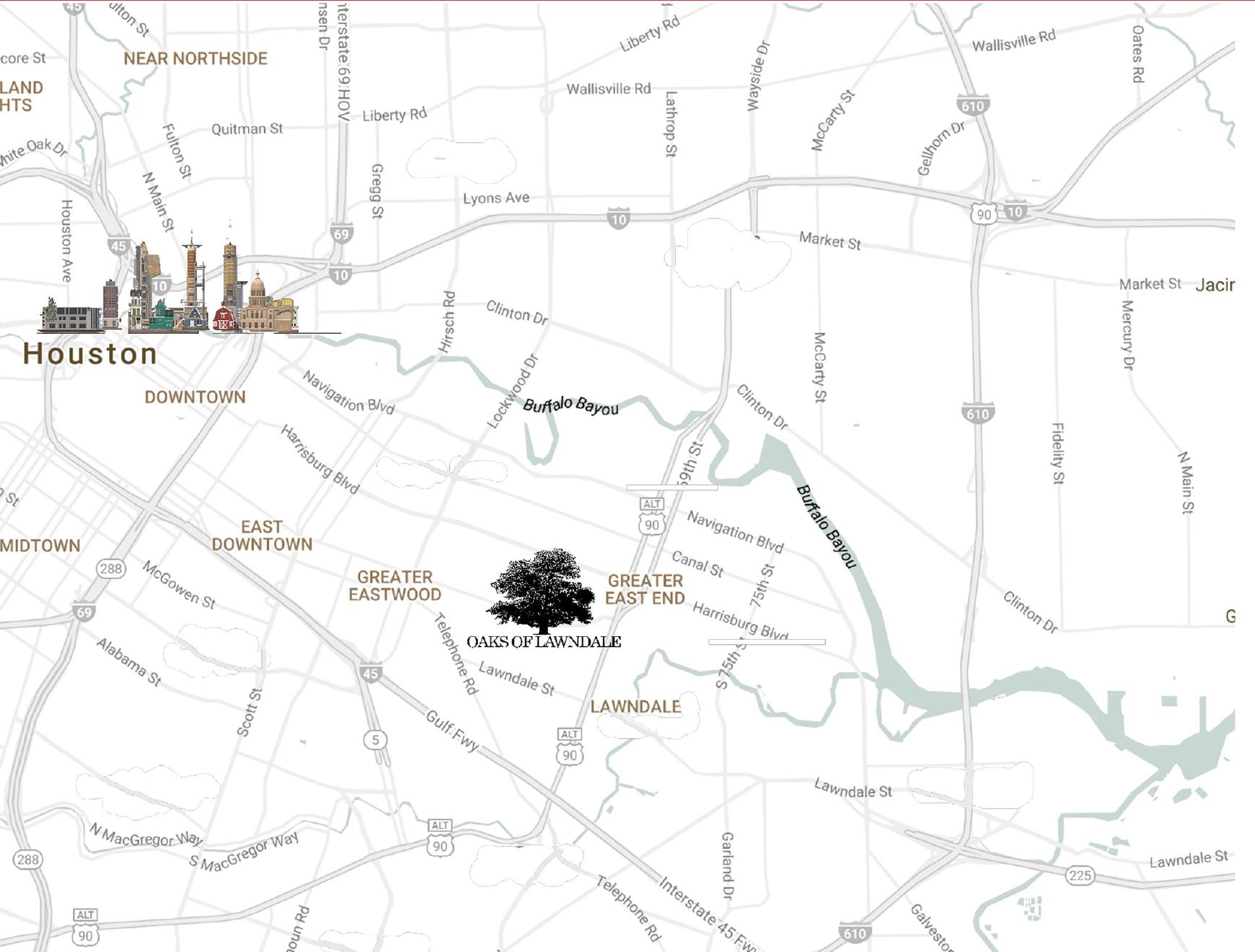 Map to Oaks Of Lawndale