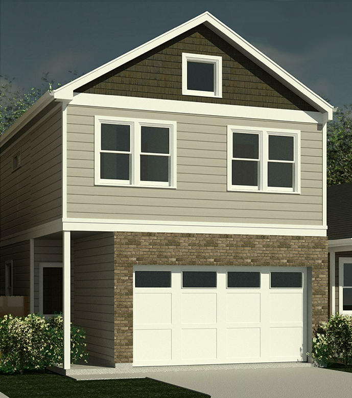 Luis Floor Plan - A. Front Elevation for A
