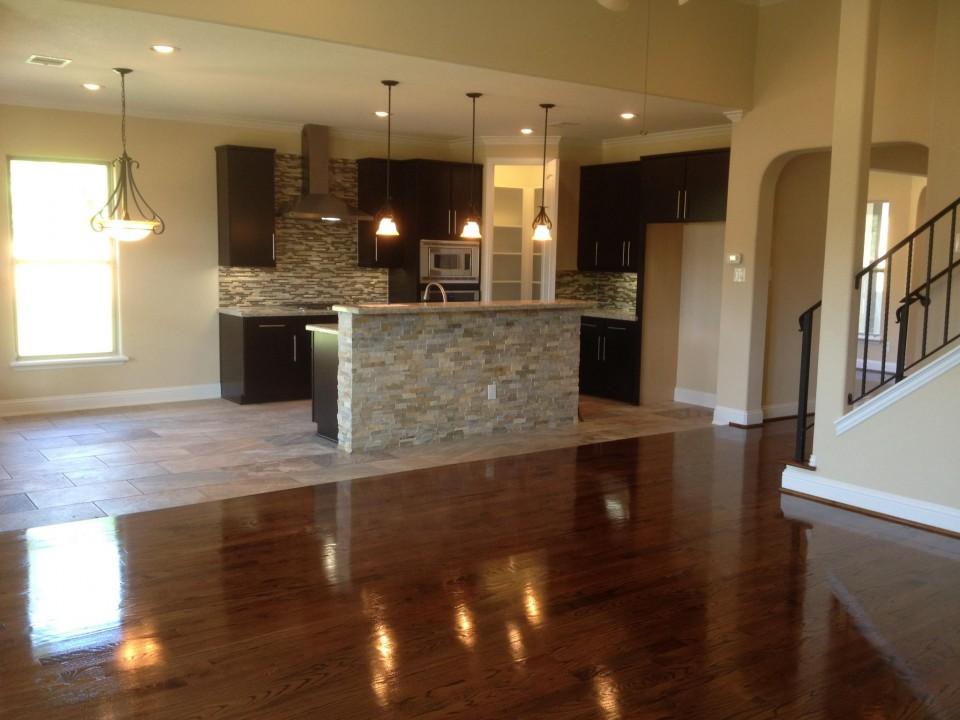 Hand-laid wood floor - Drake Homes Inc.