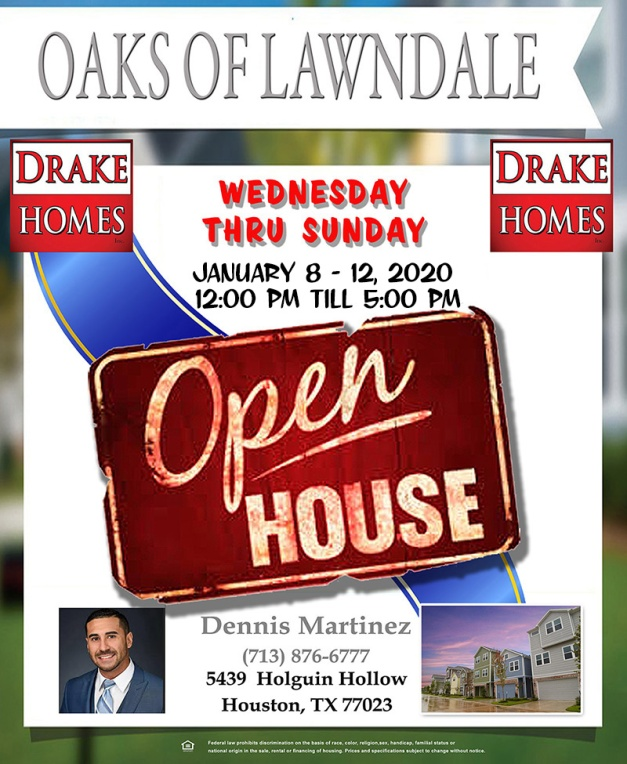 Open House January 8 2020