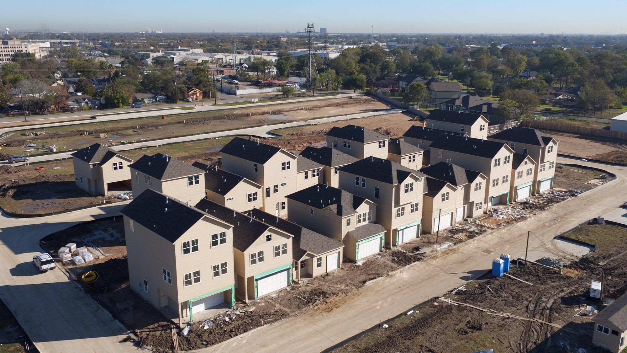 Aerial View - Oaks Of Lawndale by Drake Homes Inc.