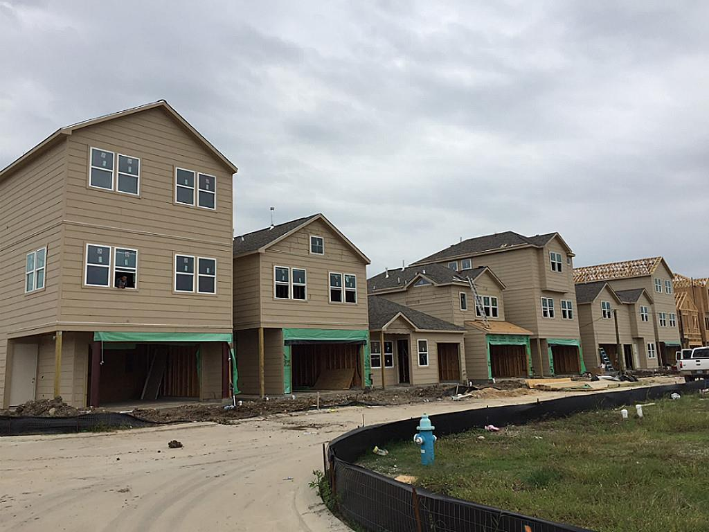 Early construction - Oaks Of Lawndale by Drake Homes Inc.